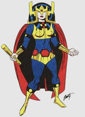 big_barda_by_jack_kirby